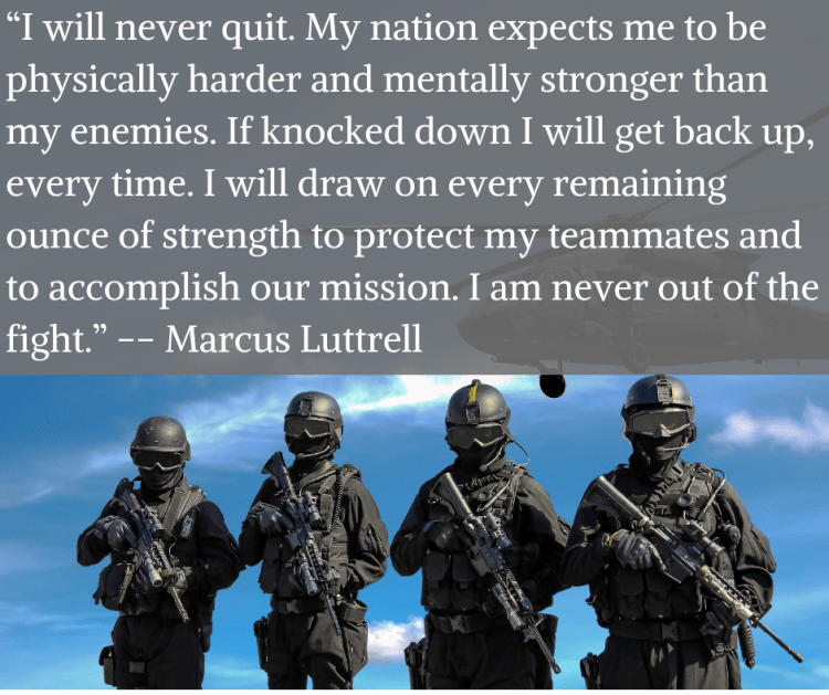 marcus luttrell endurance is manly quote
