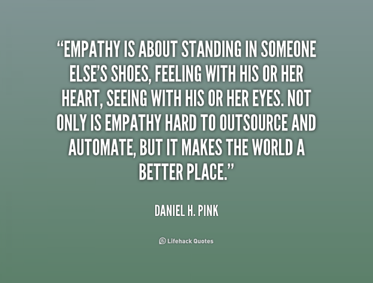 empathy is manly quote