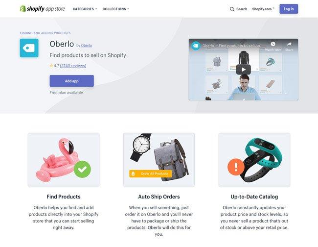 Shopify & Oberlo