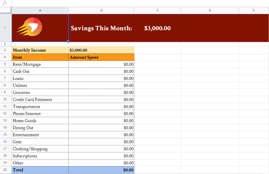 Budgeting Spreadsheet | Get Your Gusto Back