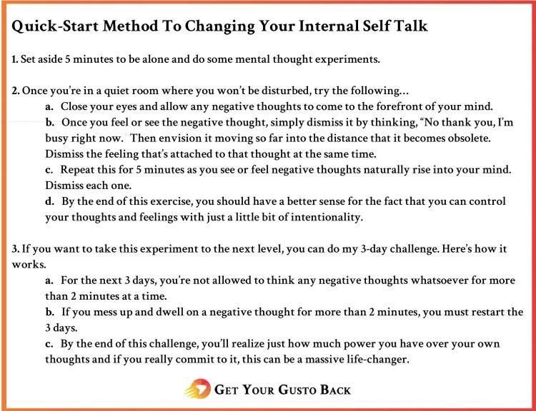 Change Internal Self-Talk | Get Your Gusto Back